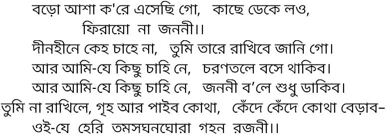 Song baro asha kore | Lyric and History